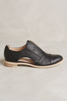 All Black Cutout Cowman Oxfords #anthrofave #anthropologie.com