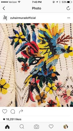 Embroidery shot