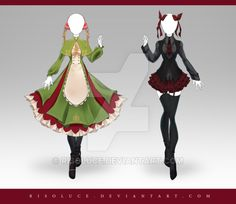 (CLOSED) Adoptable Outfit Auction 220 - 221 by Risoluce on DeviantArt