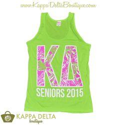 KD Boutique Custom Kappa Delta Seniors Tank!