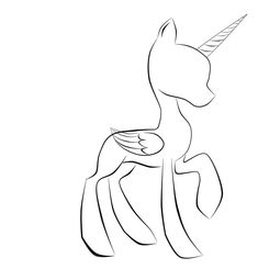 mlp base alicorn coloring pages