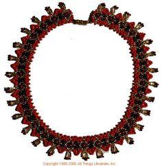 Ukrainian Gherdany Beadwork  # 05-6005 handmade in Ukraine. Originally sold on http://www.allthingsukrainian.com/Jewelry/index.htm