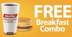 Coupon - Free Breakfast Combo at RaceTrac