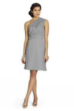 Silver chiffon bridesmaids dresses