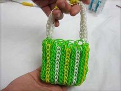 Lesson 14: Making of St. Patrick Mini Handbag with the Rainbow Loom® kit