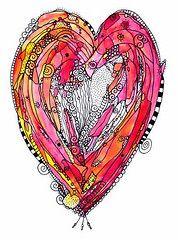 ingridsart Tangle Doodle, Tangle Art, Doodles Zentangles, Zentangle Patterns, Doodle Inspiration, Art Journal Inspiration, Doodle Drawings, Doodle Art, Heart Doodle