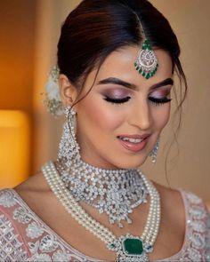 This Manish Malhotra Bride Wore A Baby Pink Crystal 'Lehenga' With Diamond Jewellery On Her Wedding Wedding Function, Indian Jewelry, Lehenga, Diamond Jewelry, Drop Earrings, Bride, Crystals, Pink, How To Wear