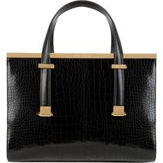 Ted Baker Llana Croc Tote Bag found on Polyvore