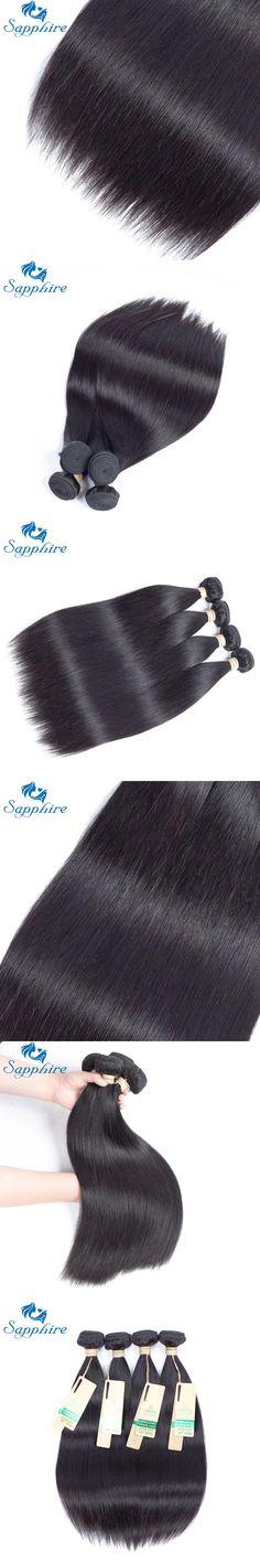 Sapphire Hair Products 4PCS/Lot Brazilian Straight Human Hair Bundles Natural Back Brazilian Remy Hair Weaving For Hair Salon