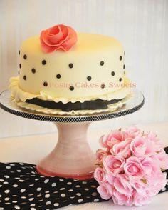 Black Tie & Rose Cake