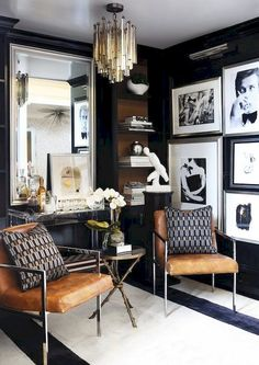 Get inspired by Glam Living Room Design photo by Roughan Interiors. Wayfair lets you find the designer products in the photo and get ideas from thousands of other Glam Living Room Design photos. Classy Living Room, Eclectic Living Room, Living Room Interior, Living Room Designs, Living Room Decor, Bedroom Decor, Living Rooms, Living Spaces, Vintage Interior Design