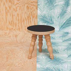 black tabouret http://blomkal.com / #madeinfrance# #wood #createur #table #tabouret #home