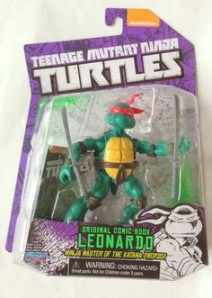 Teenage Mutant Ninja Turtles Comic Book Leornado Action Figure #PlaymatesToys