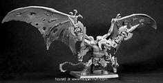 Rauthuros, the Great Demon Reaper Miniatures, Fantasy Miniatures, Chaos Daemons, Witch Queen, Dungeons And Dragons, Lion Sculpture, Images, Creatures, Statue