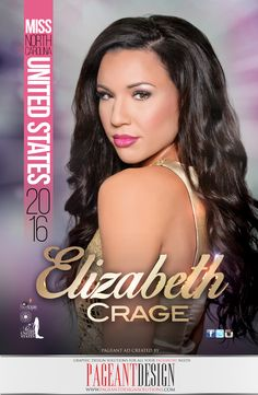 5X7 Promo card designed for Elizabeth Crage, MISS NC UNITED STATES 2016 | Delegates & Directors, get in touch if you need a great-looking, professionally-designed promo item! | We offer graphic design solutions for all your pageantry needs! Pageant Ads | Pageant Program Books | Websites | Flyers & Promo Items + more! | ALL STATES, ALL AGES, ALL PAGEANTS SYSTEMS WELCOME! #‎AWESOMEpageantADS‬ ‪#‎PageantDesign‬