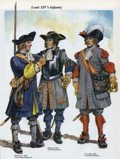 French Infantry Late 17th Century