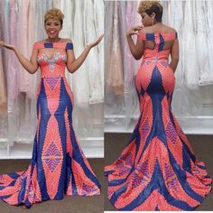 Latest Full Gown Ankara Styles - We Love. >>> Hello lovelies, Take a look at our complete latest full gown ankara styles and get inspired! Ankara Dress Styles, African Prom Dresses, African Wedding Dress, African Fashion Dresses, Ankara Fashion, Ankara Tops, African Inspired Fashion, African Print Fashion, Africa Fashion