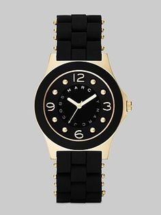 Marc by Marc Jacobs Pelly Silicon Watch/Black & Gold