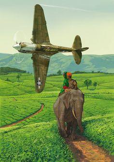 P-40 des Burma Banshees byRomain Hugault