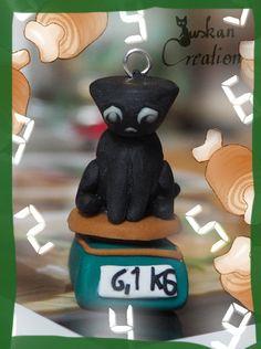 Niedliches schwarzes Katzensternzeichen: Waage von JuskanCreations
