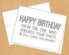 Happy Birthday  Funny Birthday Cards  A2 by PlumaPaper on Etsy, $3.75