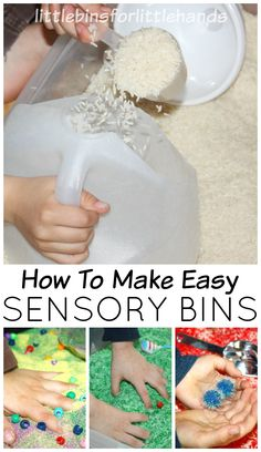 How to Make Sensory Bins for Sensory Play