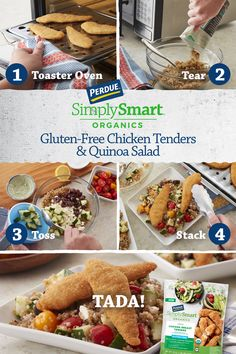 Need a quick, nutritious meal? Our Chicken Tenders Quinoa salad is perfect for easy lunches and dinners. Gf Recipes, Gluten Free Recipes, Chicken Recipes, Cooking Recipes, Dinner Recipes, Chicken Eating, Good Food, Yummy Food, Quinoa Salad Recipes