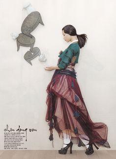 Modern hanbok vogue fashion Korea