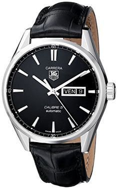 Men's Wrist Watches - TAG Heuer Mens THWAR201AFC6266 Carrera Analog Display Swiss Automatic Black Watch -- You can find more details by visiting the image link.