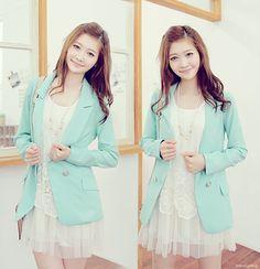 #Korean Fashion #dress #blazer