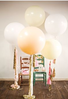Balloons and streamers - bring some fun and creativity  into your wedding photographs