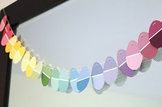 Paint Chip Garland This shape looks Eastery, although other die cuts might look super awesome.