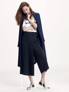 More 2econd Floor Pics Of Gong Hyo Jin For Elle Korea's March 2015 Issue | Couch Kimchi