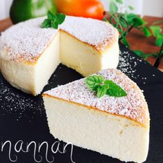 娘のリクで♡また作ったヨーグルトスフレケーキ (*´ο`*)