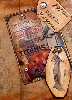 ACEO art card metallic photography Titanic 1912