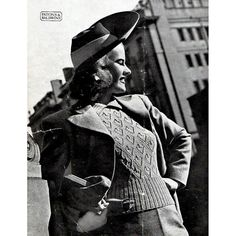 1940s Vintage Knitting Patterns for Women Sweaters and Cardigans Patons and…