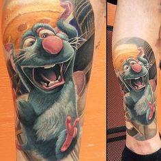 AMAZING Ratatouille disney tattoo by @franklanatra #disneyxink #disneytattoo #disneytattoos