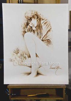 Original Sara Moon Artwork For Sale Moon Painting, Painting & Drawing, Canvas Size, Oil On Canvas, Sarah Moon, Moon Art, Figurative, Colored Pencils, Original Artwork