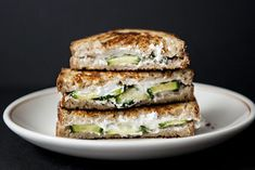 Cucumber Goat Grilled Cheese...make it with GF bread