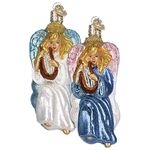 Harpist Angel Christmas Ornament