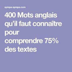 400 English words you need to know to understand of texts - We publish good gifts idea English Tips, English Words, English Lessons, Learn English, English Class, English English, English Study, Learn French Beginner, French Articles