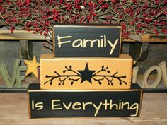 Custom Primitive Family Is Everything Wood Sign by BusyMamasPlace,