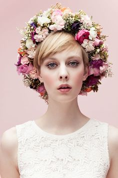 Romantic Flower Crown ~                                                                                                                                                                                 More
