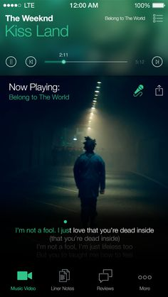 Kiss Land - by Brad Harris | #ui #ios