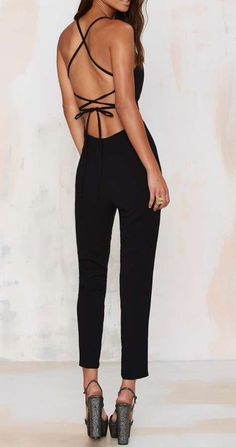 Raquel Cross-Back Jumpsuit. Is just the clothes you should wear to be elegant and sexy. Yes, the mixture is possible! . Bfp