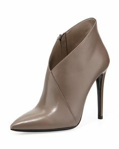Prada Asymmetric Point-Toe Ankle Boot - Prada Boots - Ideas of Prada Boots - Asymmetric Point-Toe Ankle Boot by Prada at Bergdorf Goodman. Pretty Shoes, Beautiful Shoes, Cute Shoes, Me Too Shoes, High Heels, Shoes Heels, Shoe Boutique, Cool Boots, Leather Ankle Boots