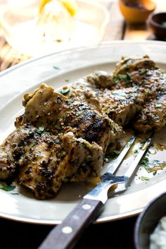 NYT Cooking: This recipe was inspired by the Middle Eastern dried seasoning mix called za'atar, a combination of herbs (usually thyme, oregano and marjoram), sesame seeds and sumac, often spiked with salt. Here, fresh herbs are substituted for the dried, which, along with fresh parsley and mint and plenty of lemon and garlic, are used to marinated boneless chicken thighs. If you can't ...