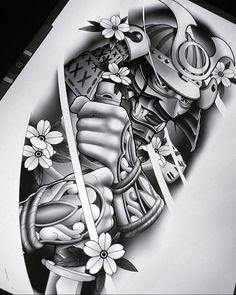 Samurai Tattoo Sleeve, Cloud Tattoo Sleeve, Arm Sleeve Tattoos, Tattoo Sleeve Designs, Leg Tattoos, Japan Tattoo Design, Skull Tattoo Design, Japanese Tattoo Art, Japanese Tattoo Designs
