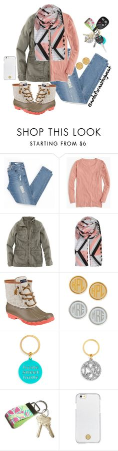 """""""I'm a cotton-headed ninny muffins"""" by nailsforashleywest on Polyvore featuring Frame Denim, J.Crew, H&M, BeckSöndergaard, Sperry Top-Sider, Moon and Lola, BaubleBar, Lilly Pulitzer and Tory Burch"""