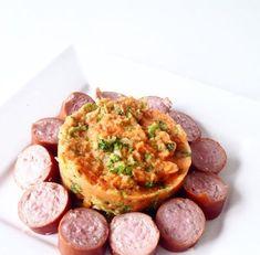 Heerlijk recept voor stamppot maar dan anders. Dit keer met broccoli, zoete aardappel en rookworst!